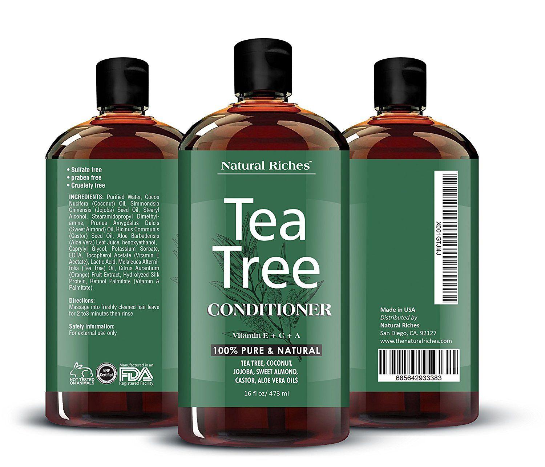 Sulfate Free Anti Dandruff Tea Tree Oil Shampoo And Conditioner Set Made With