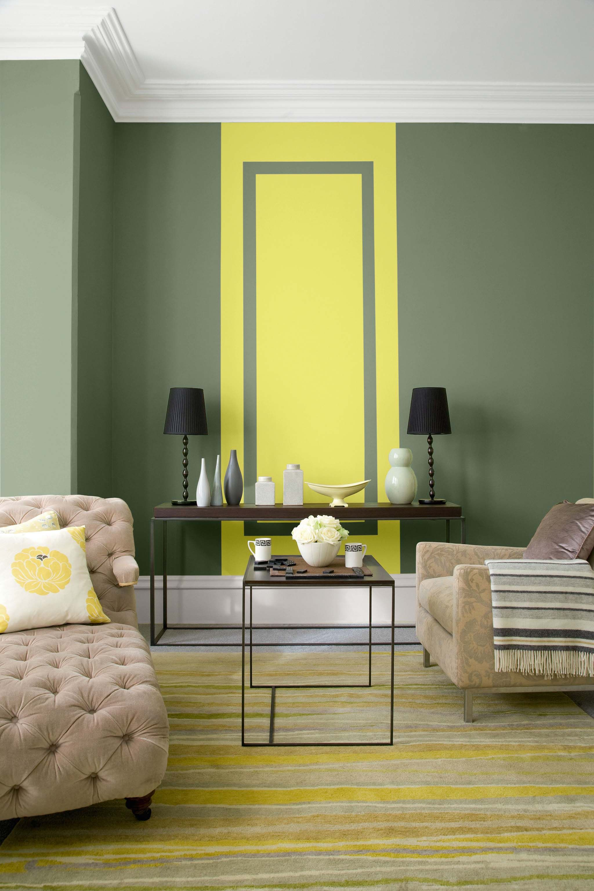 Walls in Tuscan Olive® from the Indulgence® range and