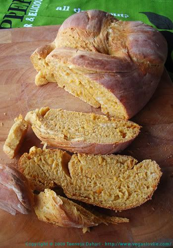 Sweet Potato Bread - (sub wheat flour for white and maple syrup for sugar)