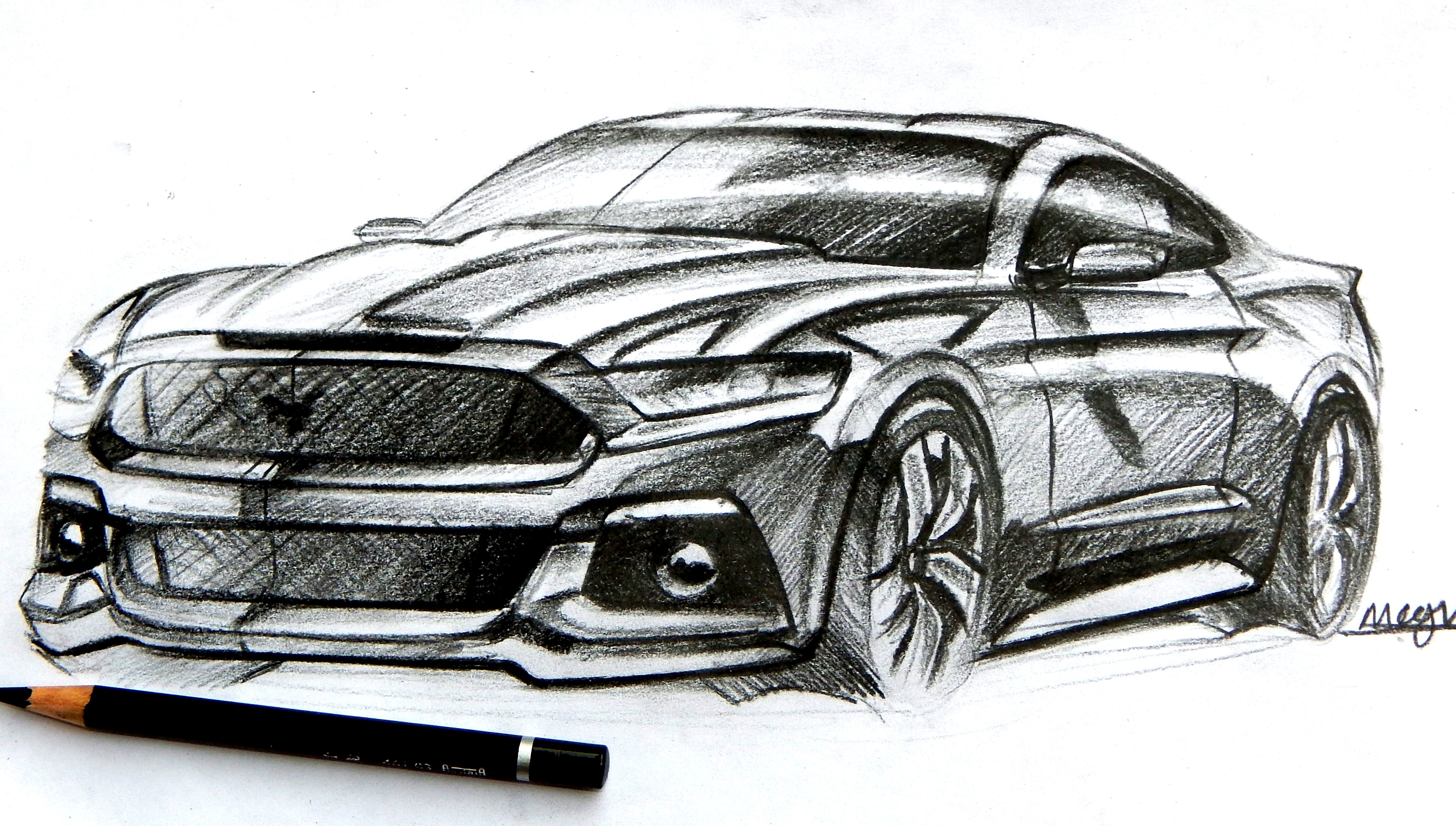 ford mustang pencil sketch | sketches | Pinterest
