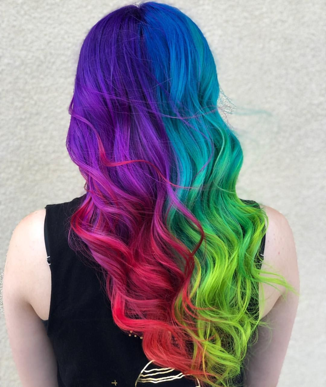 I M Really Loving This Split Hair Trend For This Mermaid Look I Used