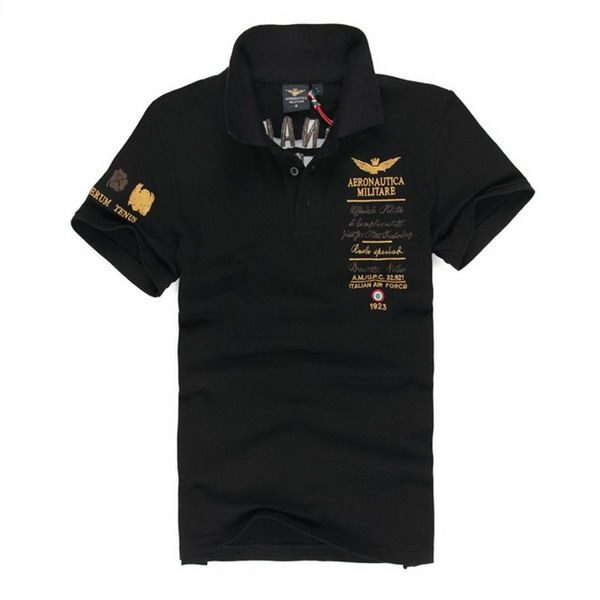 a9768d399033 outlet ralph lauren Aeronautica Militare Italian Air Force 1923 Short  Sleeve Men s Polo Shirt Black http