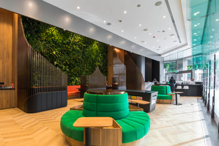 Manulife Offices Singapore Office Snapshots Workplace Design Interior Design Firms Collaboration Space