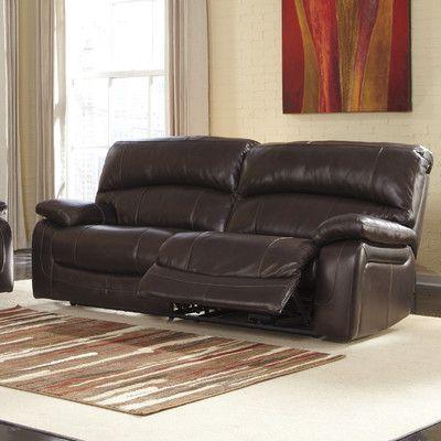 Signature Design By Ashley Dormont Double Seat Reclining Sofa Reviews Wayfair