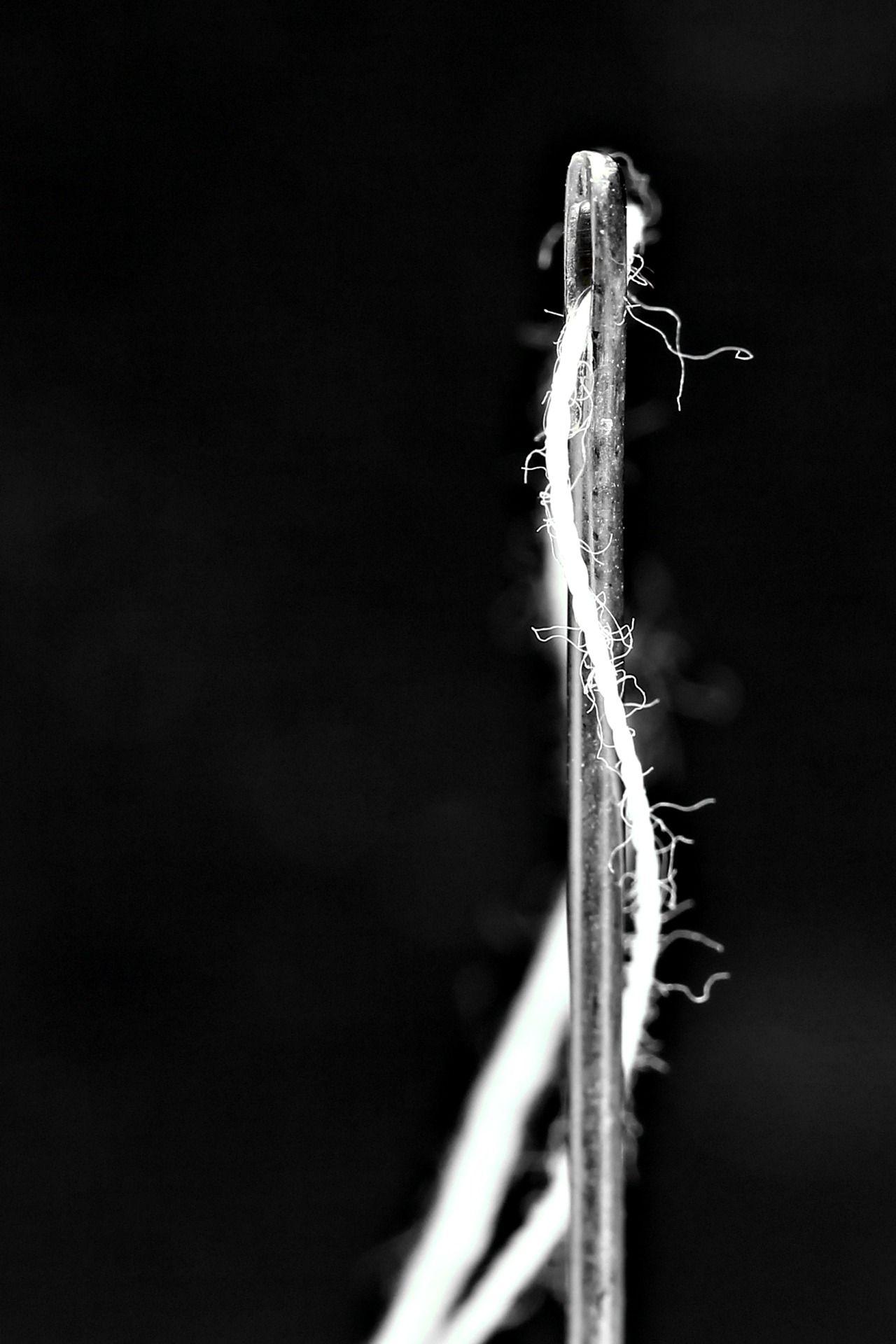 De Fil En Aiguille Macro Photography Thread Photography Black