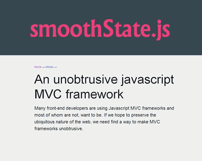smoothState js – jQuery Plugin for Neat Page Transitions #jQuery