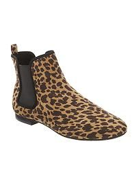 Leopard-Print Chelsea Ankle Boots
