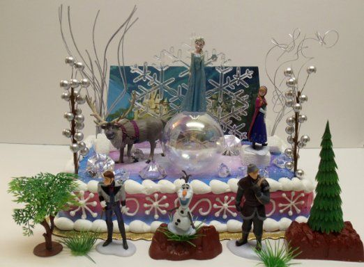 Amazoncom Elsa and Anna Frozen 23 Piece Birthday Cake Topper