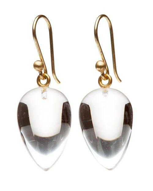 Crystal Acorn Earring Ted Muehling Earrings Crystal