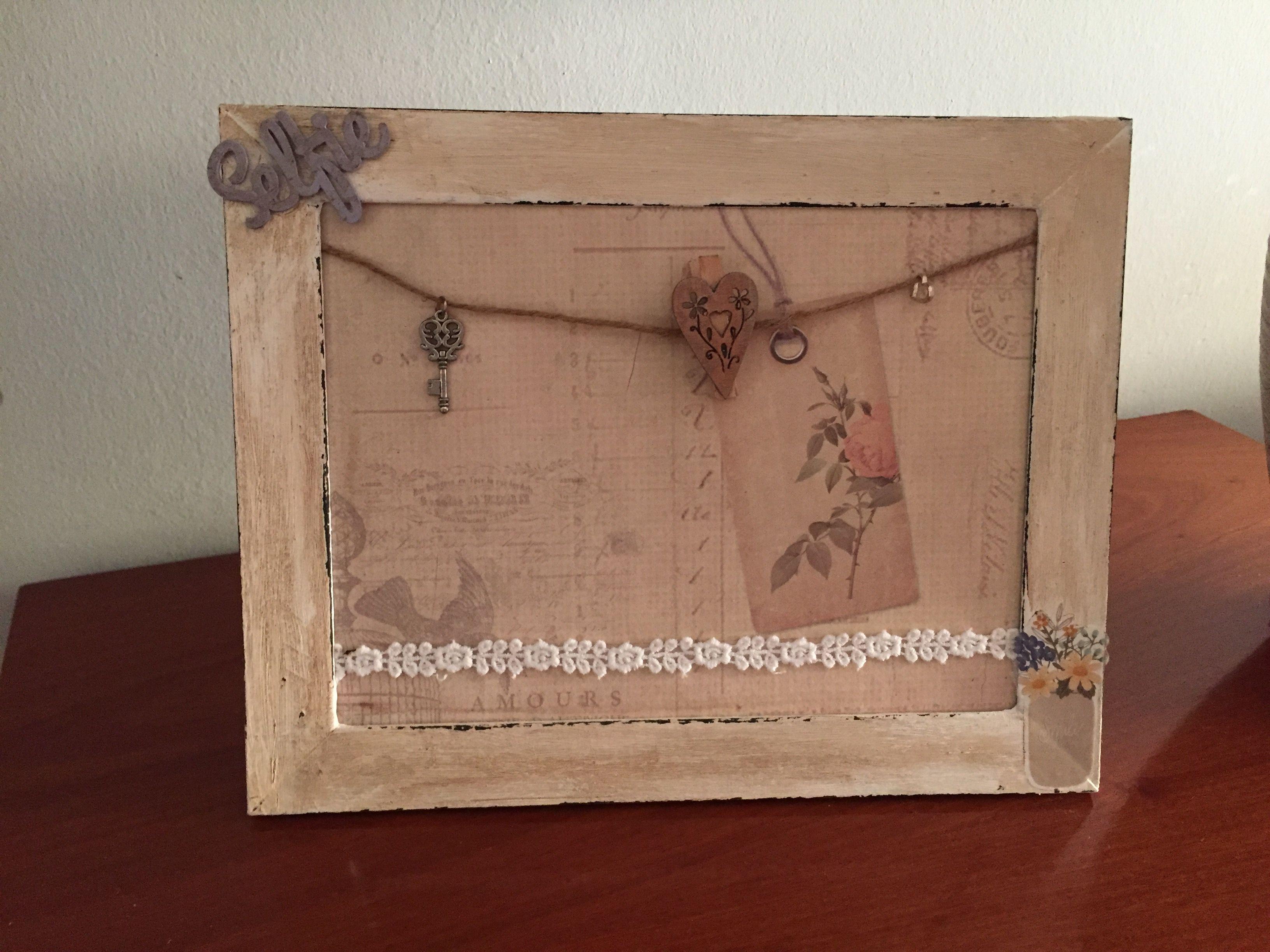 lascositasderosita #reciclar marco de madera pintado y decorado con ...
