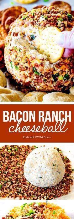 Bacon Ranch Cheese Ball (Video!)