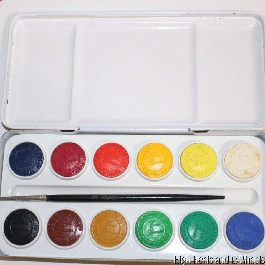 Vintage Enri Romier Watercolor Paint Set In Tin Paints Never Used