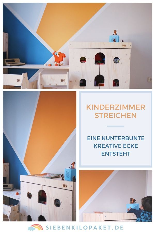 Gut Kinderzimmer Streichen   Ideen Für Die Wandgestaltung Kleinkind Farbwirkung  #kinderzimmer #wandgestaltung #wandfarbe #
