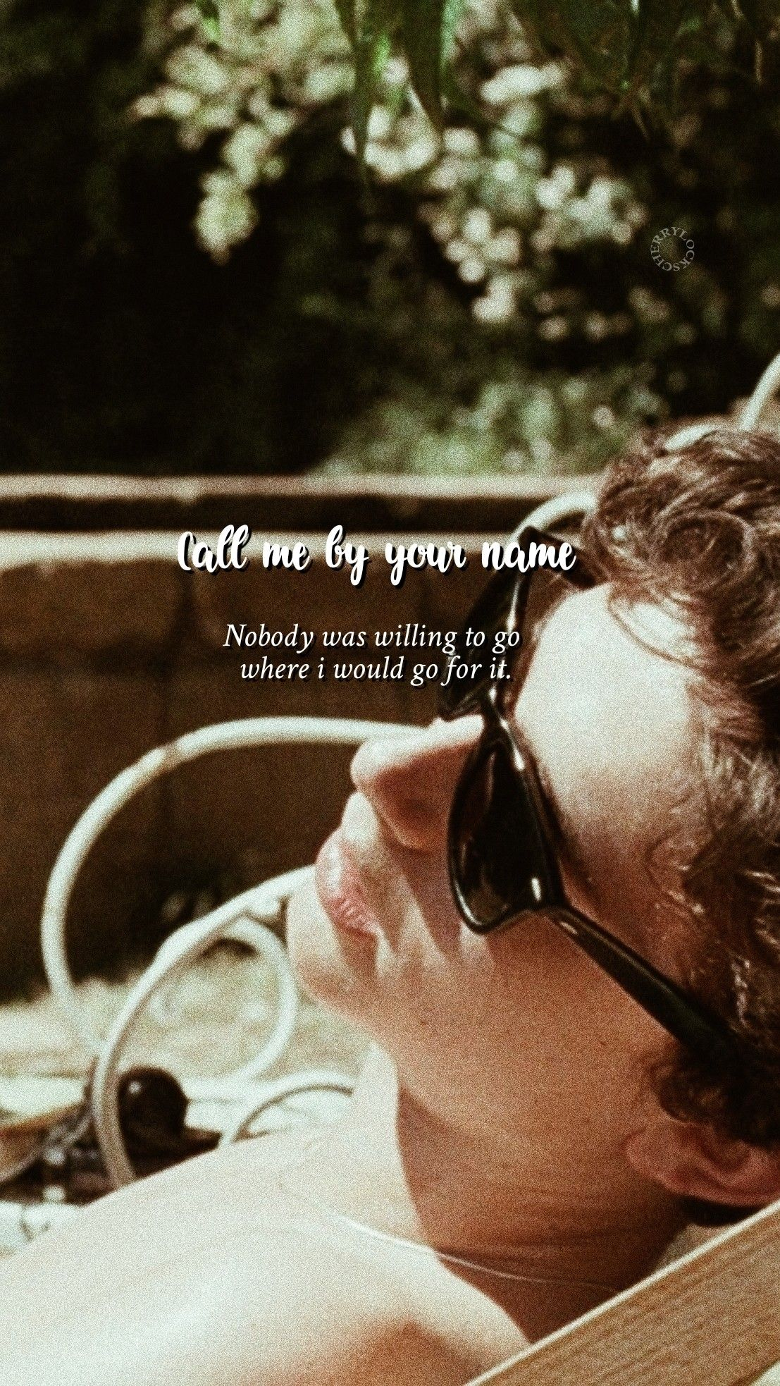 Call Me By Your Name Lockscreen Me Chame Pelo Seu Nome