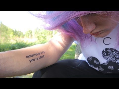 5dc54b0092820 My Tattoo Story | 'remember why you're alive' - YouTube | youtube ...