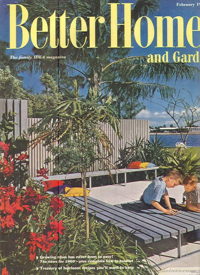 1960 Better Homes And Gardens | Backissues.com   Better Homes And Gardens  February 1960