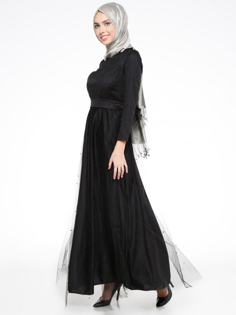 3240d4986d8a7 Mileny Tesettür Tüllü Abiye Elbise Modelleri - Moda Tesettür Giyim ...