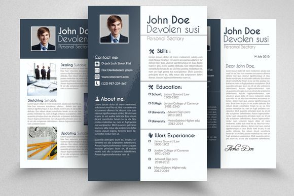 4 Page Resume Portfolio Cover Letter by Business Flyers on