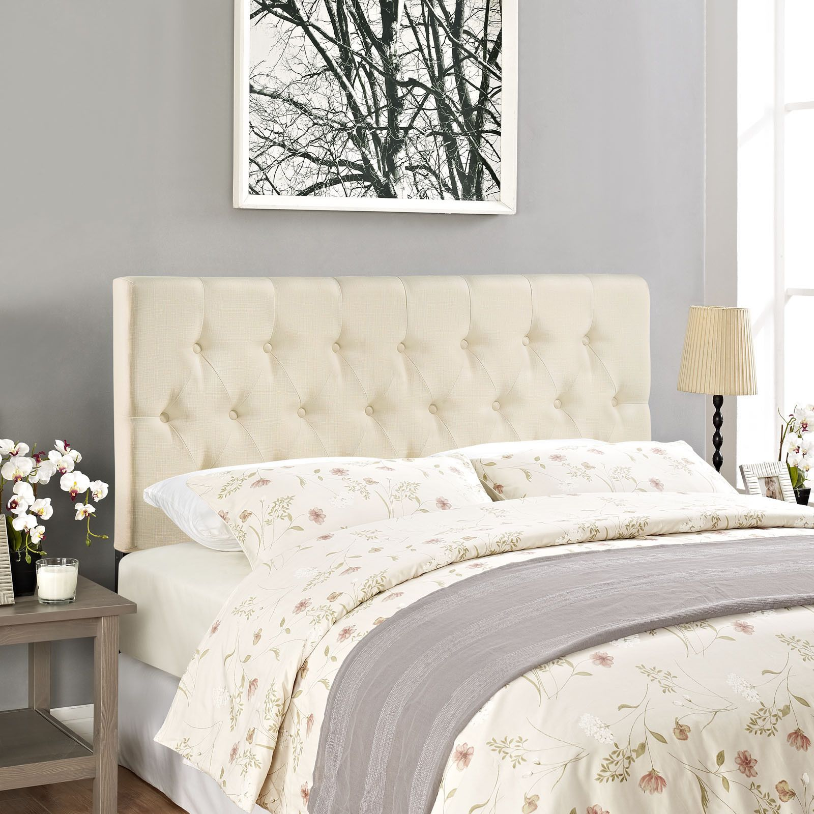 Enjoy The Beautiful Clique Headboard Design In Your Room This Gorgeous On Tufted Upholstered