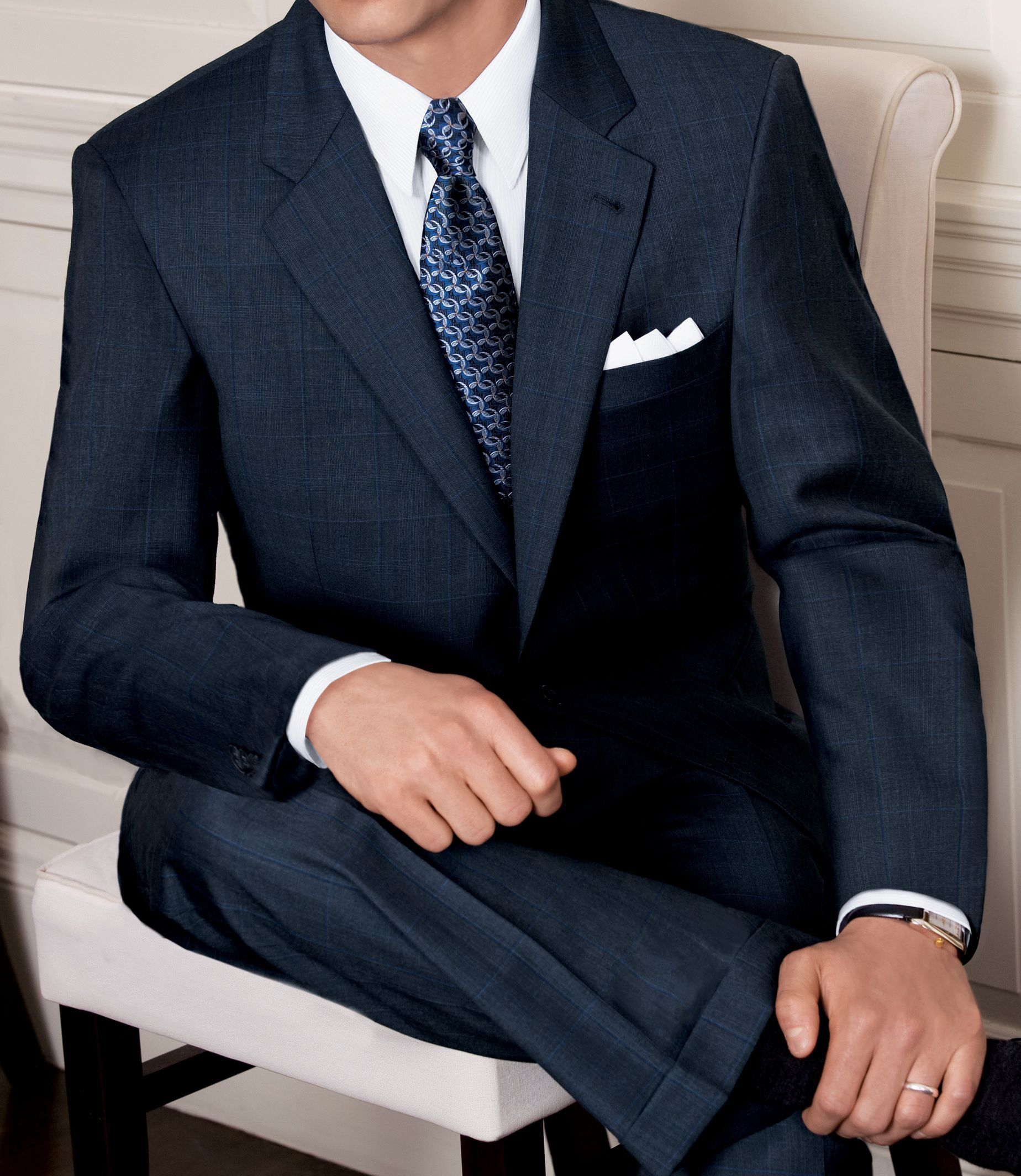 Signature Merino Wool 2-Button Wool Suit -- on sale at Jos. A ...