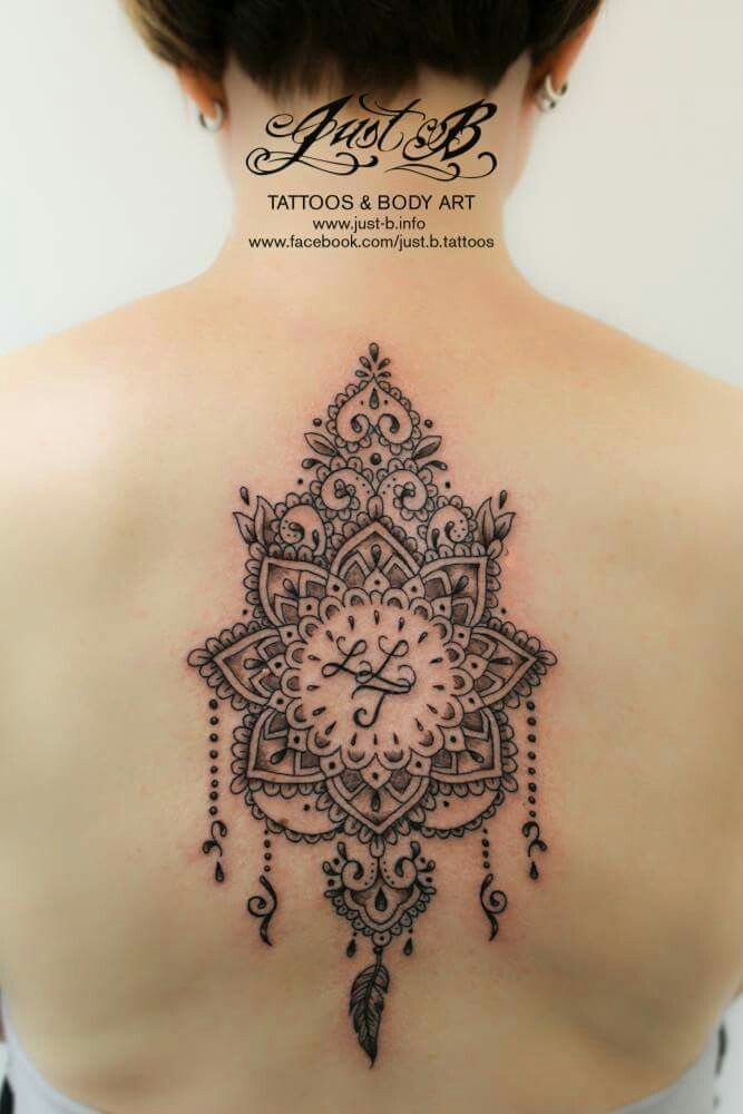 Mandala Tattoo Rucken Mandala Floral Tattoo Escote