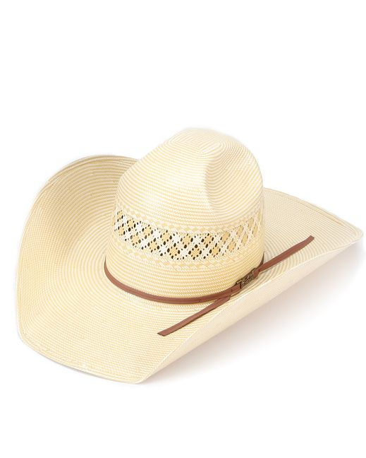 706faa269aa5b American Hat Co. American Straw West Texas Punch Crease Hat - Whiskey Band