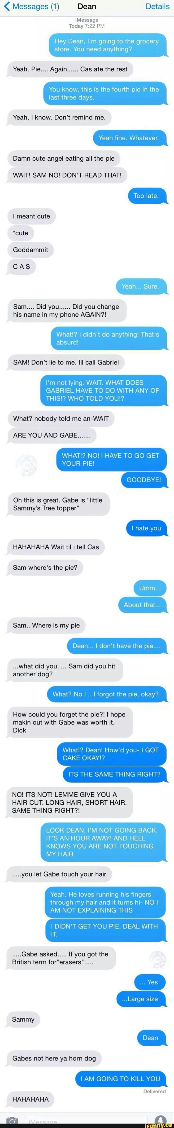 Sam and Dean| Messages