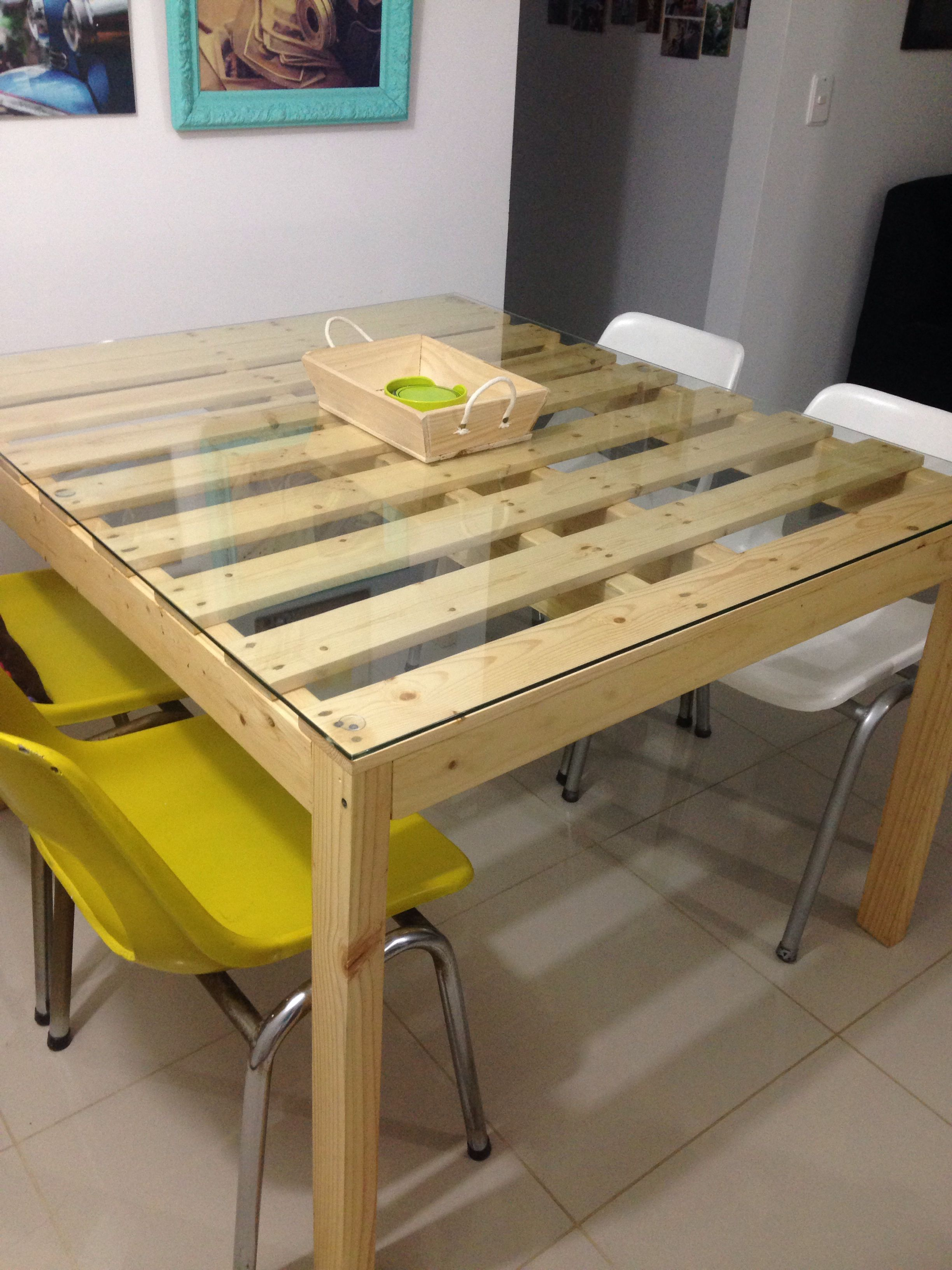 Comedor elaborado con estiba de pino | mesas | Comedores ...