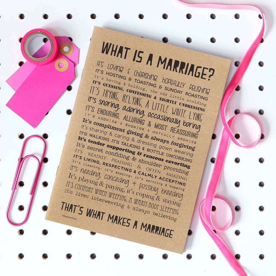 Marriage Notebook With Poem