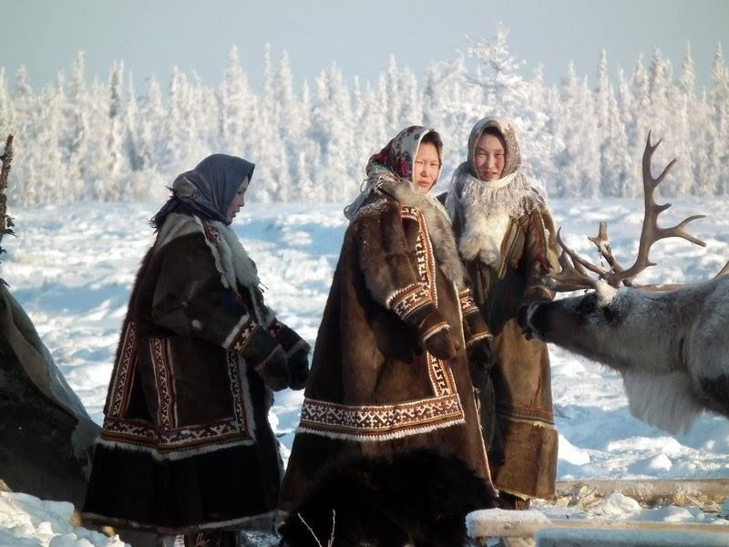 Nomadic Nenets Women At Their Encampment In The Tundra Nadym Region Siberia World Cultures Siberia People Of The World