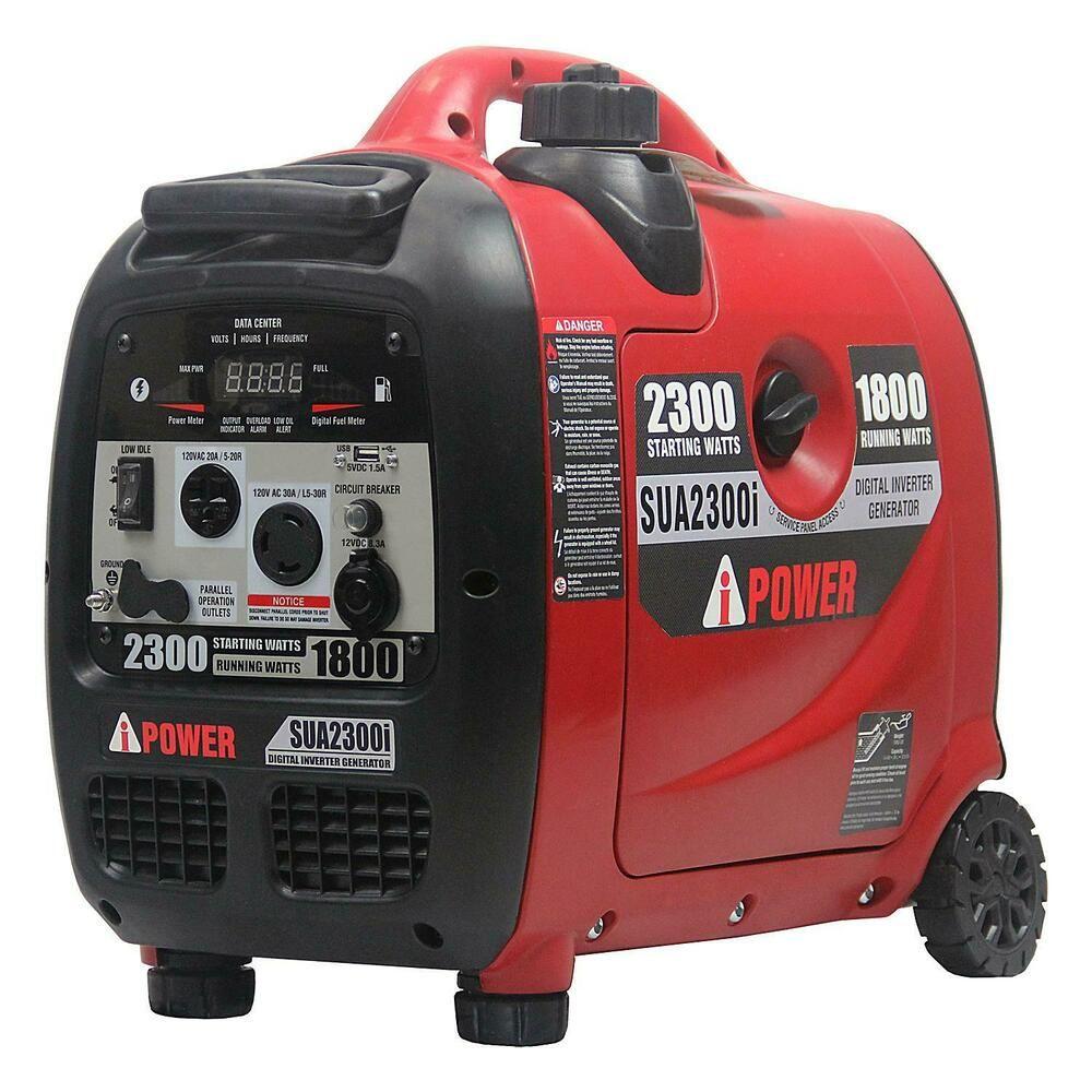 A Ipower Sua2300i Portable 2300 Watt Gasoline Powered Inverter Generator New Aipower In 2020 Inverter Generator Portable Generator Generators For Sale