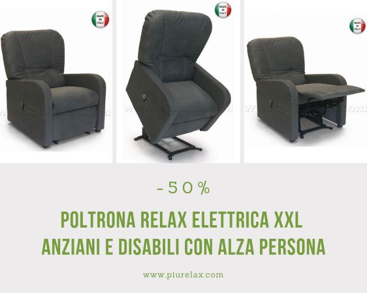 Poltrone Relax Anziani.Poltrona Relax Xxl Anziani E Disabili Elettrica Alza Persona