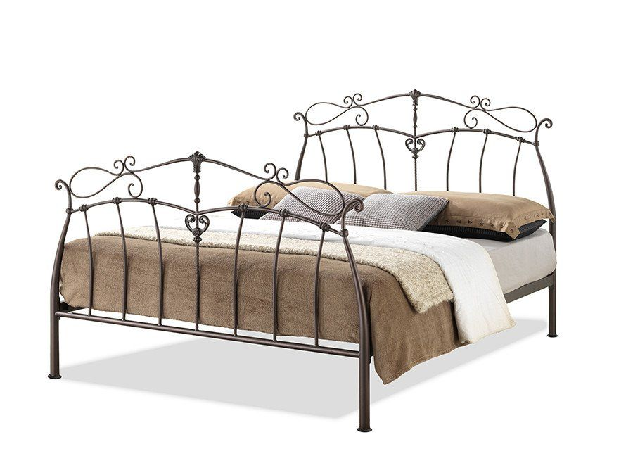 Description Modern Wrought Iron Platform Bed Offers Graceful Lines