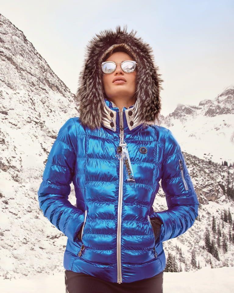 Sportalm Kurtka Narciarska Kyon Dark Blue Kameleon Ski Outfit Fashion Denim