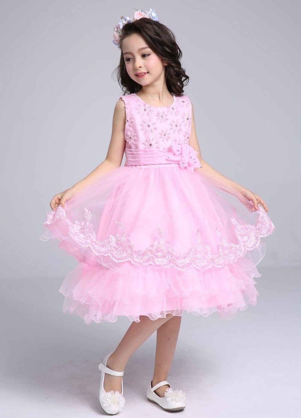 SALE Size 6 New Pink TUTU Dress Girls Wedding Party Church Flower ...