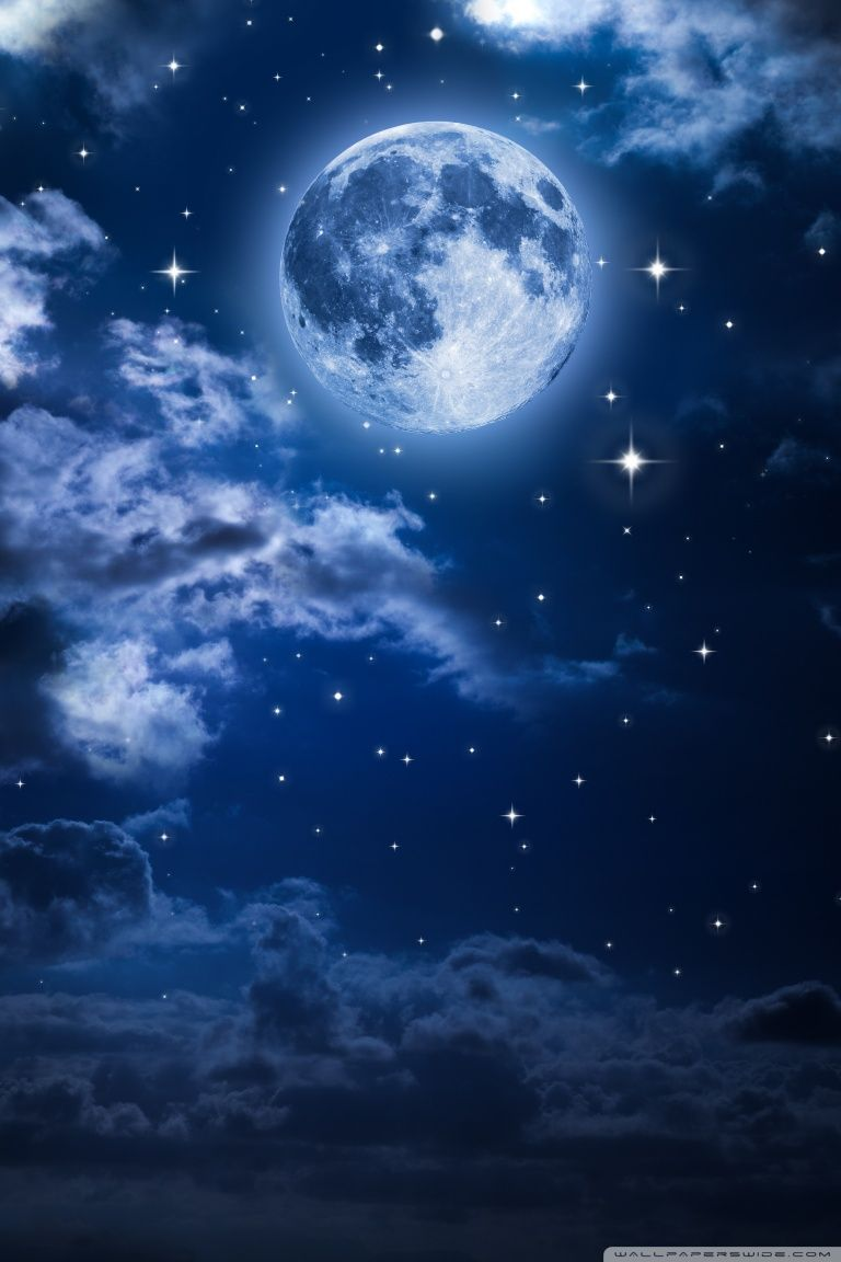 Download Beautiful Moon In The Sky Hd Wallpaper Beautiful