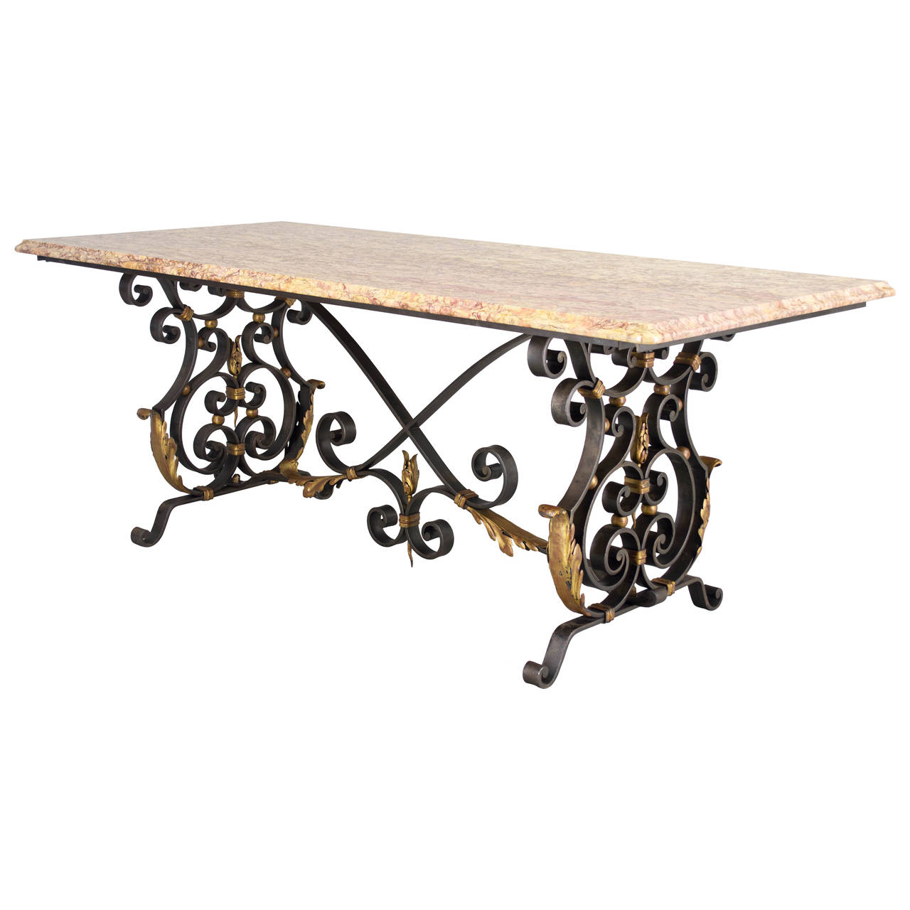 French Wrought Iron Center Table Wrought Iron Center Table