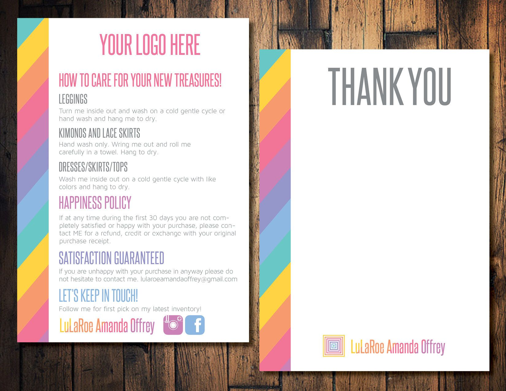 Clothing care card thank you card sales card sales blitz clothing care card thank you card sales card sales blitz return sales kristyandbryce Images