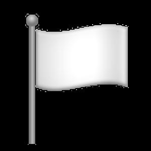 Waving White Flag Decor White Flag Home Decor