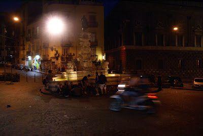 Fountain in Naples, Italy