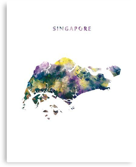 Singapore map canvas print by monnprint pinterest singapore map singapore watercolor map singapore asia state map art canvas gumiabroncs Choice Image
