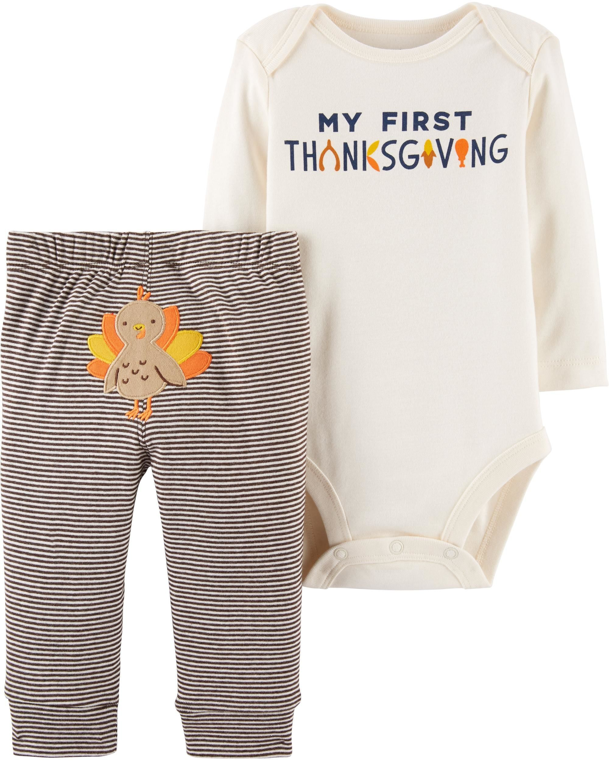 17a4eacb7 2-Piece Thanksgiving Bodysuit Pant Set | Baby {Wear}. | Carters baby ...