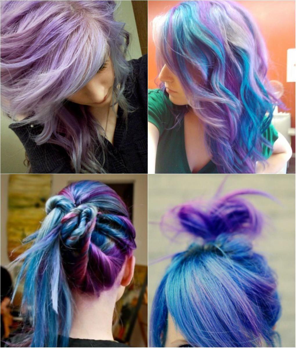 Hair Tips And Ideas :DIY Color Hair : Blue And Violet Ombre Hair Color You Gallery