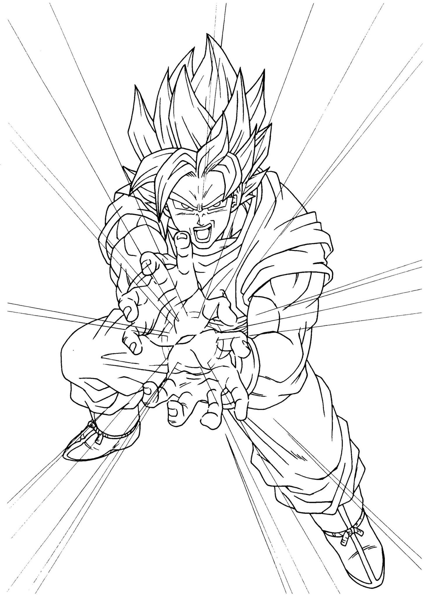 Print dragon ball z super saiyan free coloring page coloring pages ... | 2048x1454