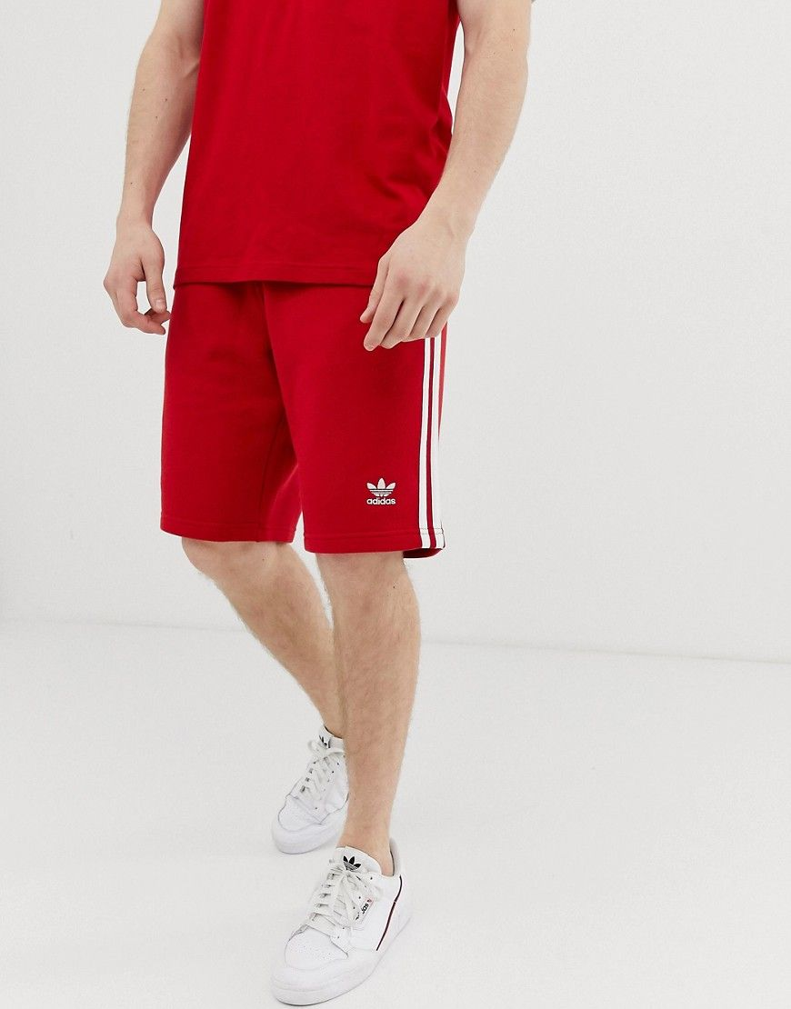 874b594cbe ADIDAS ORIGINALS 3 STRIPE SHORTS DV1525 RED - RED. #adidasoriginals #cloth
