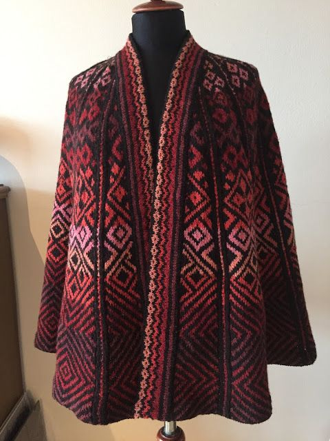 Madam Munch: åben poncho | Knit Fair Isle | Pinterest | Ponchos ...