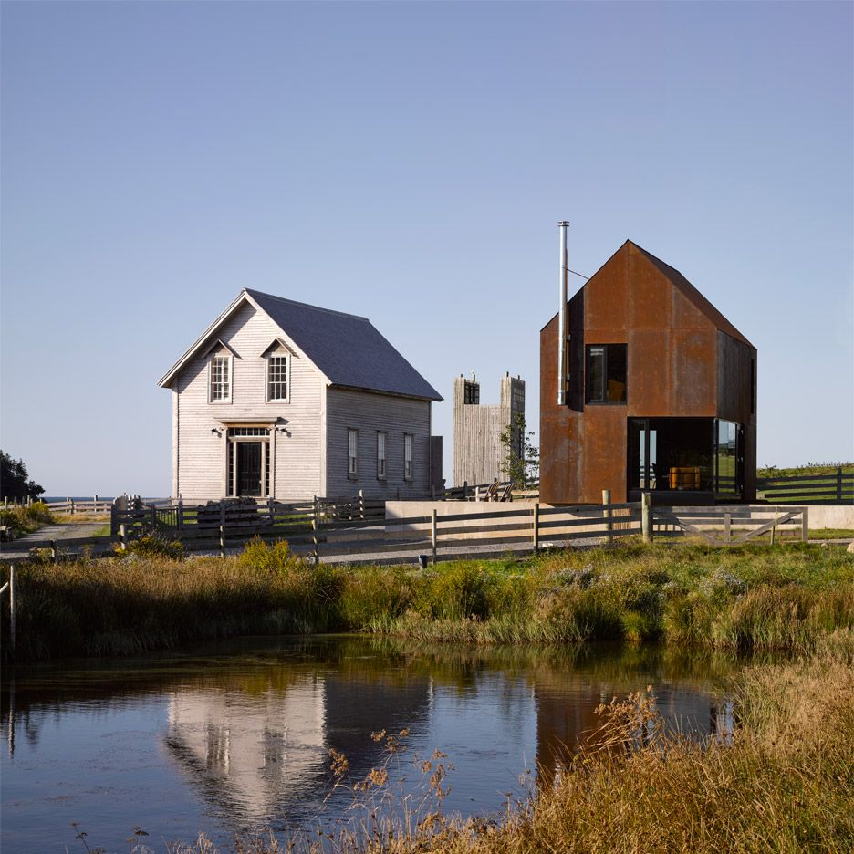 Enough house weathering steel cabin in Nova Scotia by Brian Mackay ...