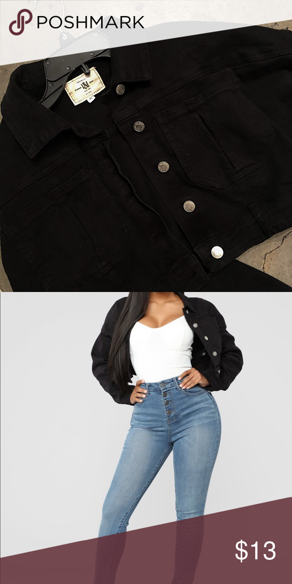 Fashion Nova Elsie Denim Jacket Black Black Denim Jacket Denim Jacket Fashion Nova