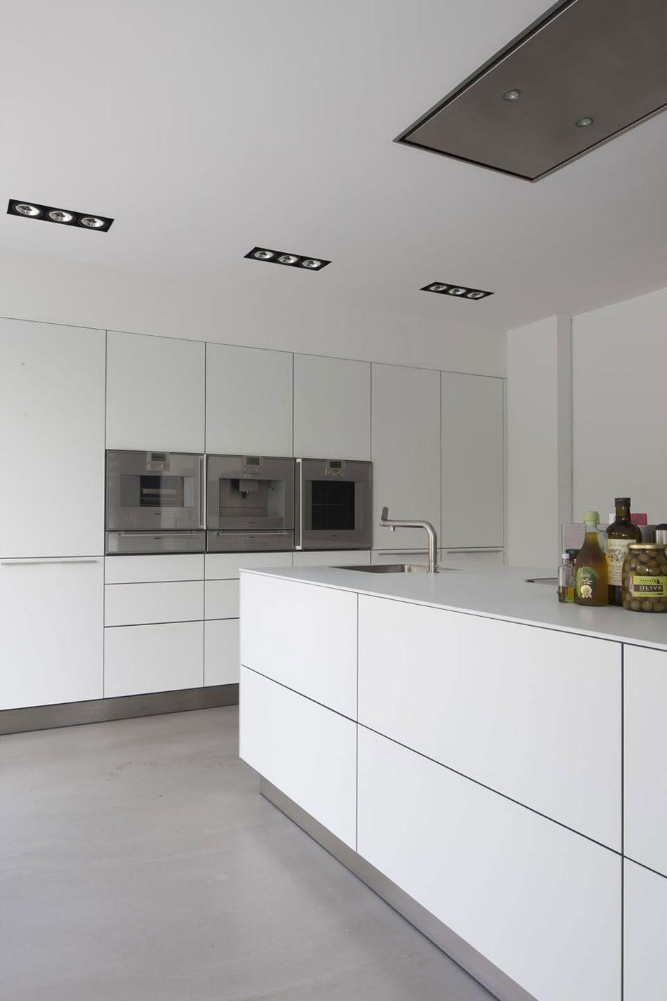 Moderne küchen innenausstattung wohnungseinrichtung minimalismus inneneinrichtung beleuchtung modernes modernen weißen küche moderne küchen