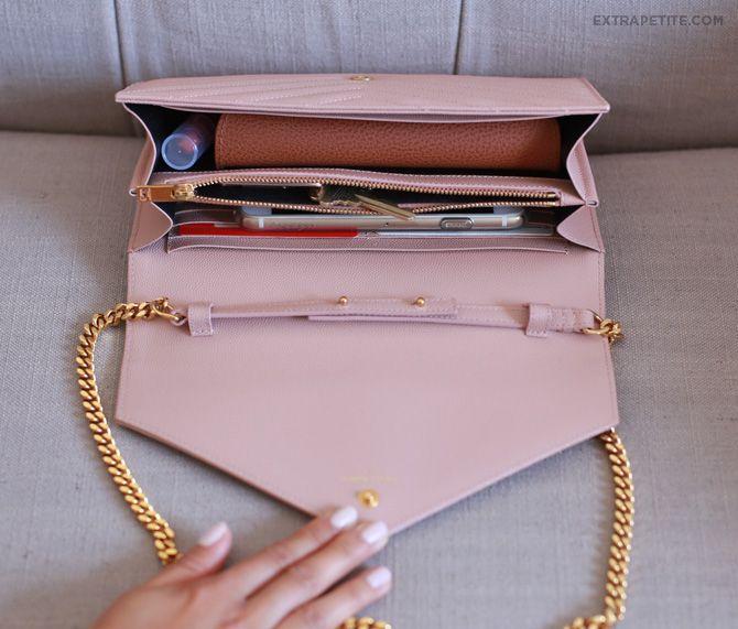 263365ad28b ExtraPetite.com - Bag review  YSL Saint Laurent wallet on chain